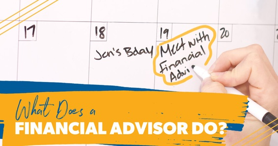 A person scheduling to meet with their financial advisor.