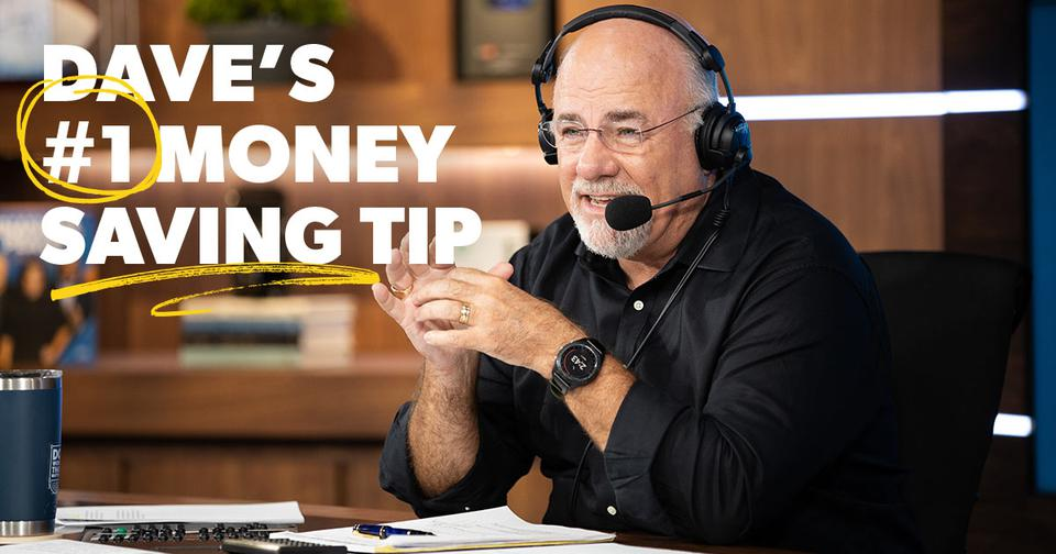 Dave Ramsey doing his radio show with the quote
