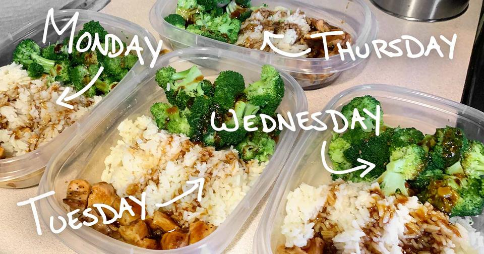 Packed lunches showing how to save money every month.