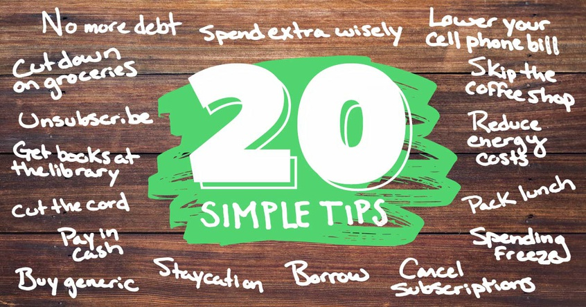 How to Save Money: 20 Simple Tips