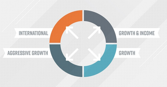 An image explaining the four types of mutual funds to diversify your portfolio.