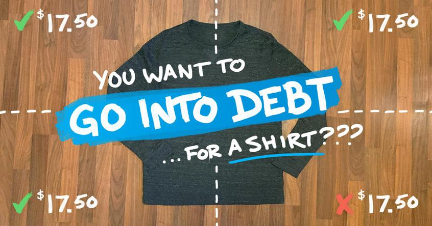 Going into Debt for a Shirt by using a digital installment plan