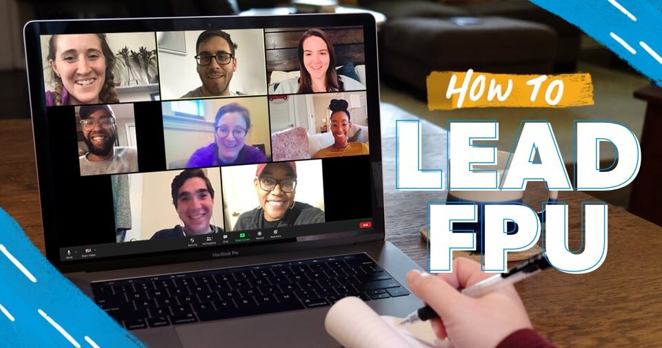 Financial Peace University class members on a video chat