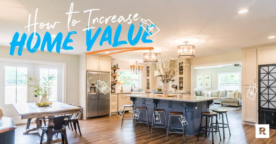 A beautiful kitchen remodeled to help increase home value.