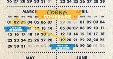 Calendar showing when someone starts a new job.
