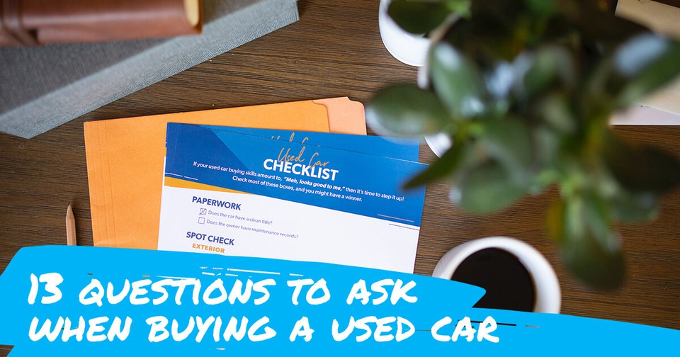 Photo of a checklist for buying a used car
