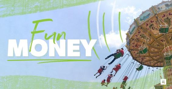 Using fun money at an amusement park.
