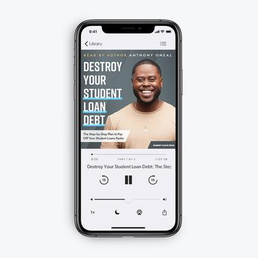 Destroy Your Student Loan Debt by Anthony ONeal (Audiobook Download)
