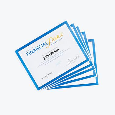 Financial Peace University - Graduation Certificates
